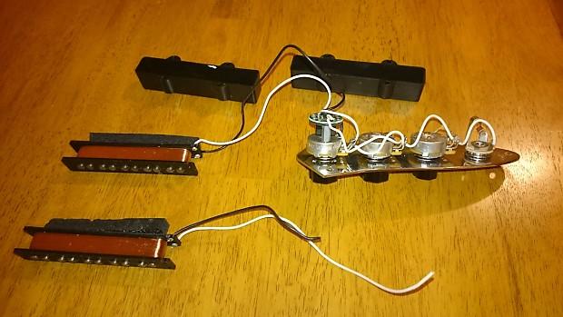 fender usa jazz bass pickups and control plate 5 string reverb. Black Bedroom Furniture Sets. Home Design Ideas