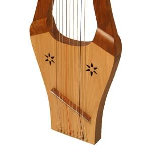 "Mid East HKNA-L 27"" 10-String Kinnor Harp"