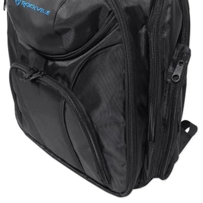 Rockville Travel Case Backpack Bag For Mackie 1202-VLZ3 Mixer