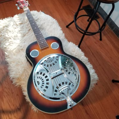 Galveston metal body Resonator guitar electric acoustic dobro for sale