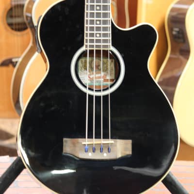 Oscar Schmidt OB100-B Acoustic/Electric Bass Black for sale