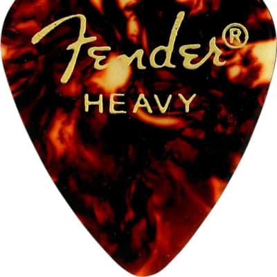 Fender Classic Tortoise Shell Picks, 351 Shape, Heavy, Pack of 12