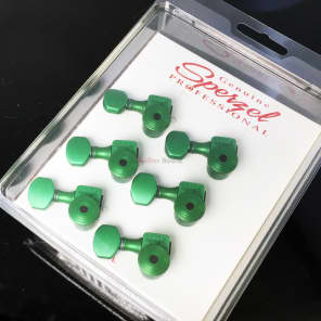Sperzel 6-In-Line LEFT-HANDED Trimlok Locking Guitar Tuners Pegs - GREEN for sale