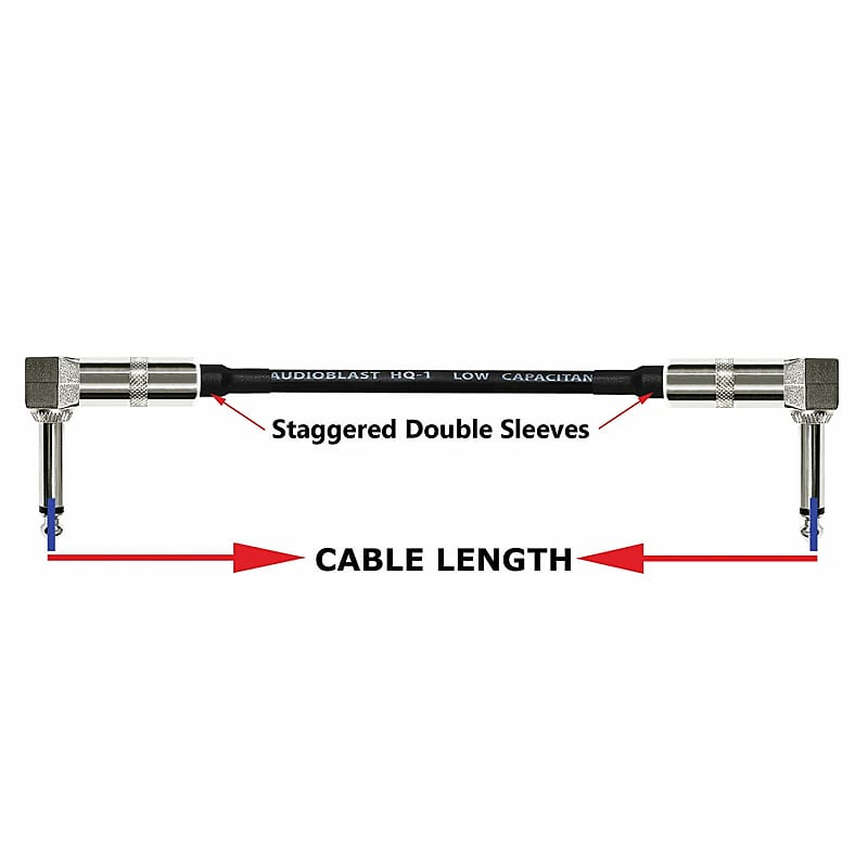 pedal patch cables 2 units 3 foot ultra flexible dual