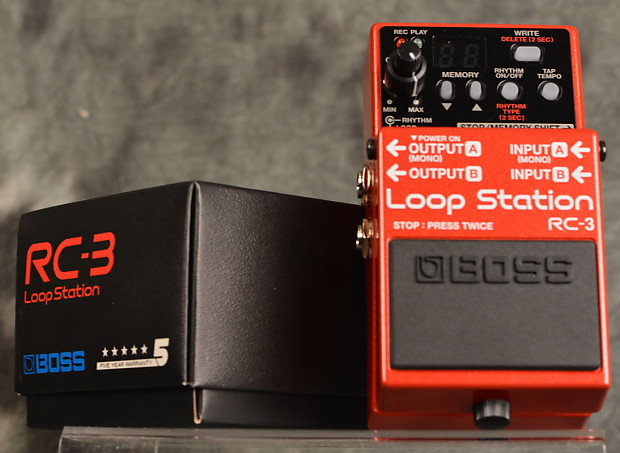 boss rc 3 loop station pedal w 2 patch cables free reverb. Black Bedroom Furniture Sets. Home Design Ideas