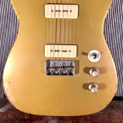 RebelRelic Singlecut goldtop P90 2013 Goldtop for sale