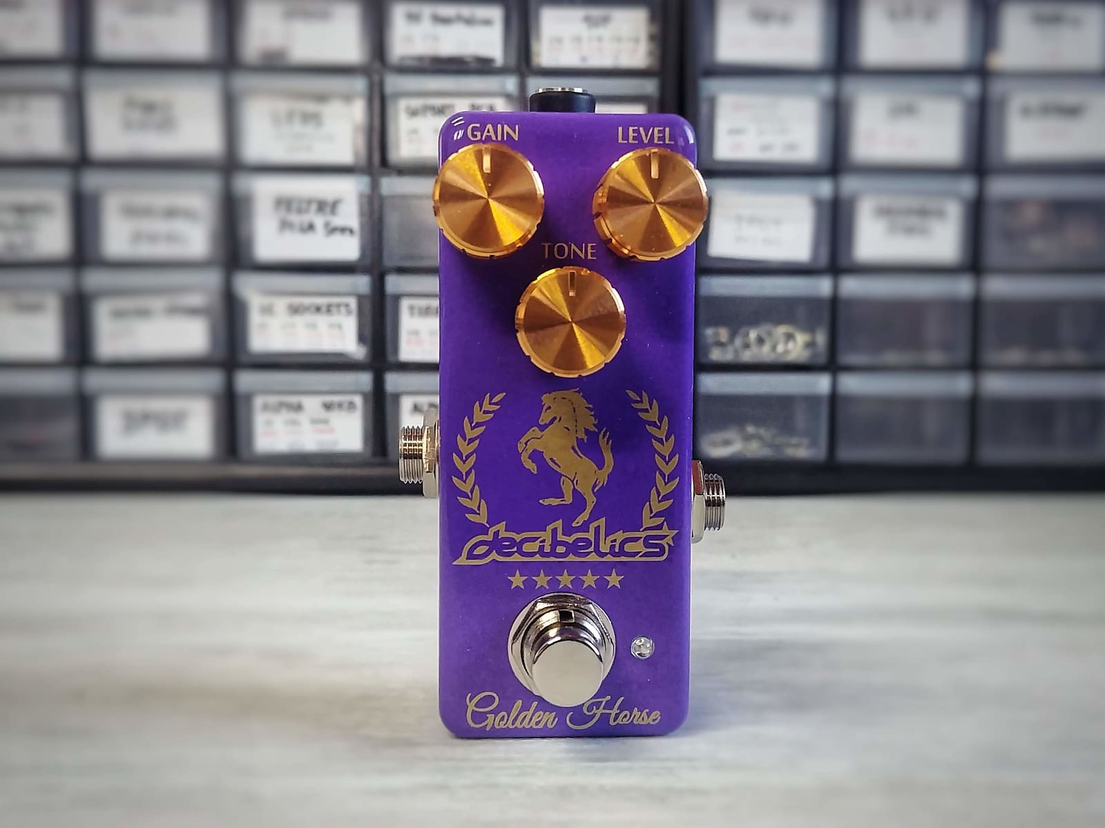 Decibelics Golden Horse Professional Overdrive - Amethyst Purple  Edition - May Preorder