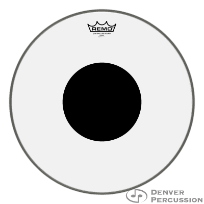 """Remo CS-0316-10- Batter, Controlled Sound, Clear, 16"""" Diameter, Black Dot On Top"""