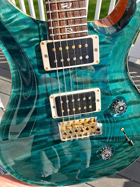 prs custom 24 quilt 10 top electric guitar blue crab blue reverb. Black Bedroom Furniture Sets. Home Design Ideas