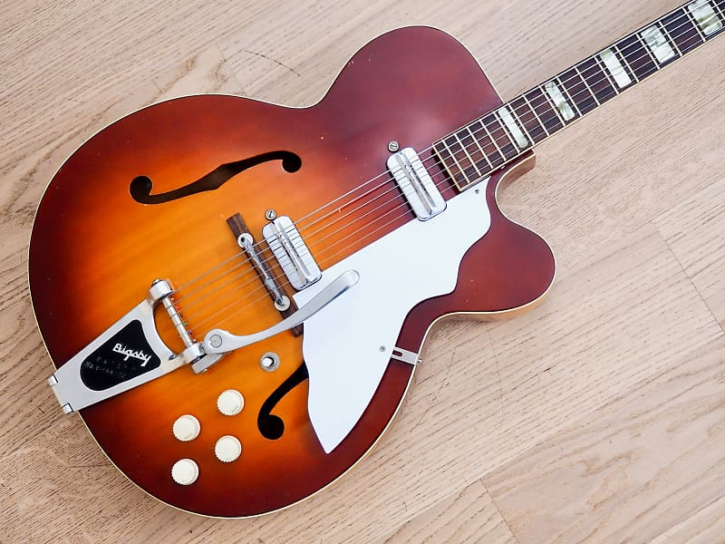 1950s Silvertone Aristocrat 1365 Vintage Archtop Electric Guitar, USA-Made  Kay w/ Bigsby & Case