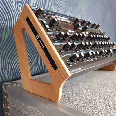 Novation Peak Solid Oak Dual Angle Stand from Synths And Wood
