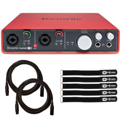Focusrite Scarlett 2i2 3rd Generation 2-in 2-out USB Audio Interface w/ XLR Cab