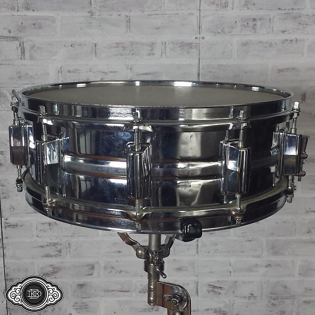 pearl chrome over steel 1970s vintage snare drum firecracker reverb. Black Bedroom Furniture Sets. Home Design Ideas