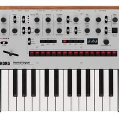 Korg monologue 25-Key Monophonic Analog Synthesizer (Silver) (Used/Mint)