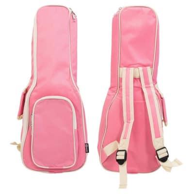 "Padded Soprano Ukulele Uke Soft Bag Case 21"" Inch PINK carry school handles cool colours"