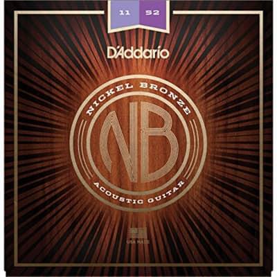 D'Addario NB1152 Nickel Bronze Acoustic Strings: 11-52 (Custom Light)