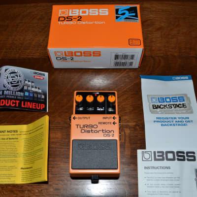 Boss DS-2 Turbo Distortion (Silver Label) 2010 Orange