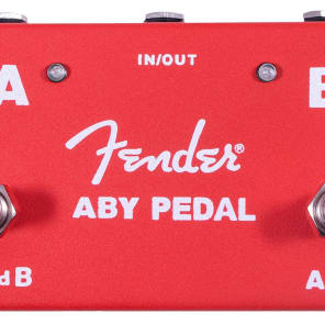 Fender Guitar Amplifier Amp Switcher Footswitch ABY Stomp Box Pedal, Red for sale