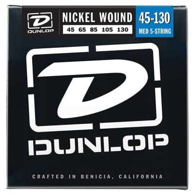 Dunlop DBN45130 Nickel Wound 5-String Bass Strings
