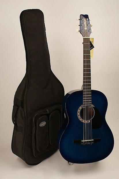 acoustic guitar steel string folk size blue burst set up for reverb. Black Bedroom Furniture Sets. Home Design Ideas