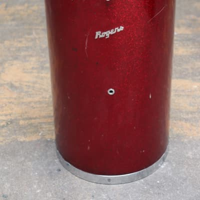 Rogers Canister Drum Throne 1960's  Red Sparkle
