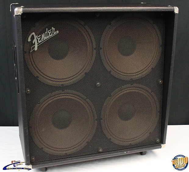 Fender GE-412 4x12 Guitar Amplifier Speaker Cabinet, Works | Reverb