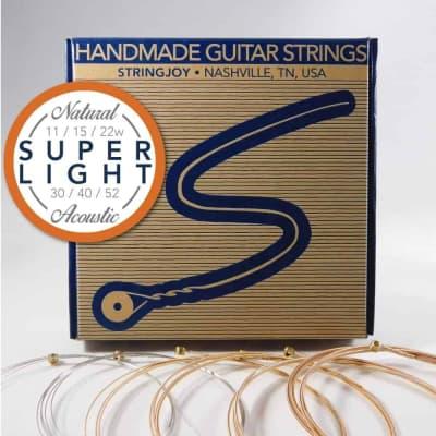 Stringjoy Super Light (11-52) Natural Bronze Phosphor Acoustic Guitar Strings