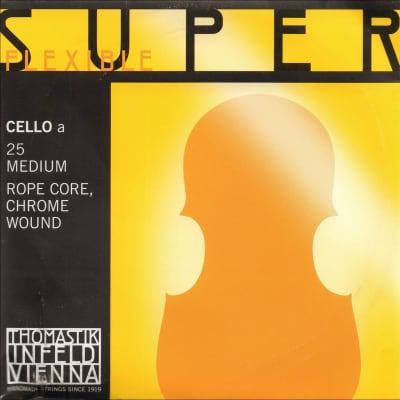 Thomastik 25 SuperFlexible Chrome Wound Rope Core 4/4 Cello String - A (Medium)