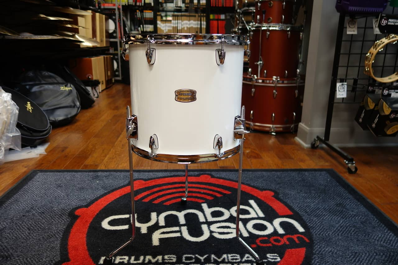 Yamaha stage custom 14x13 floor tom pure white reverb for 13 floor tom