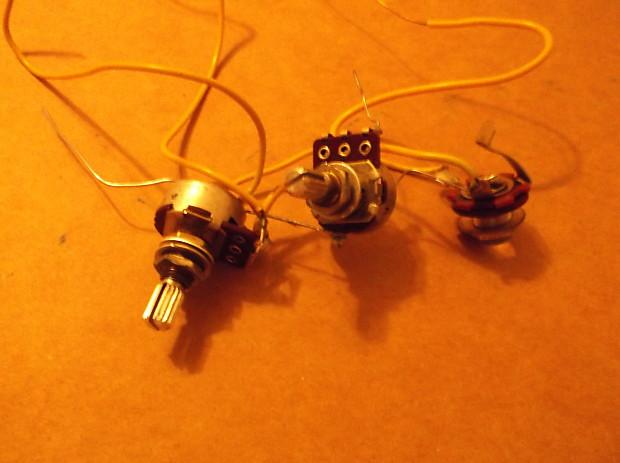 vintage guitar wiring harness pots output jack teisco reverb vintage guitar  wiring harness pots output jack
