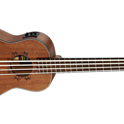 Ortega Lizard Series Lizzy Acoustic Electric Uku Bass Fretted Mahogany