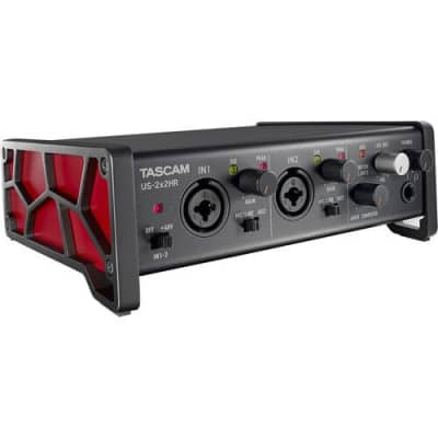 NEW Tascam US-2x2HR Desktop 2x2 USB Type-C Audio/MIDI Interface