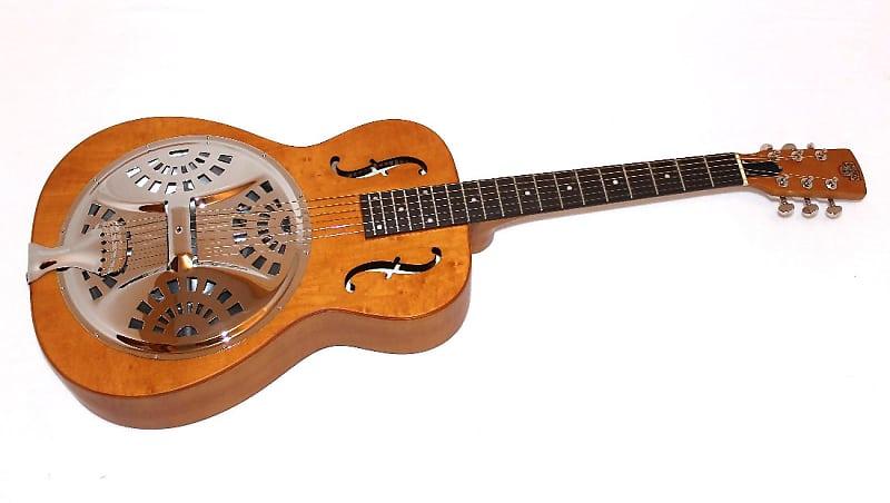 Dobro Hound Dog Round Neck Vintage Brown Resonator Guitar