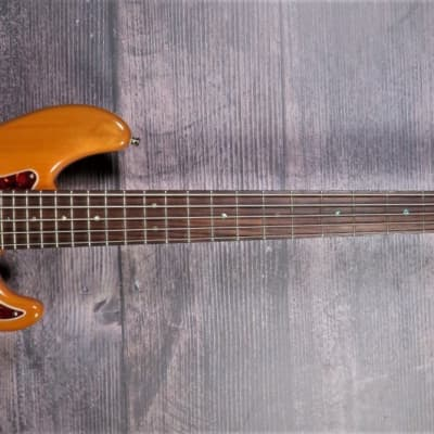 Fender American Deluxe Jazz Bass V 2007 Amber for sale
