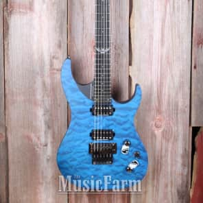 Washburn PXM10FRQTBLM Parallaxe with Quilted Maple Top Trans Blue