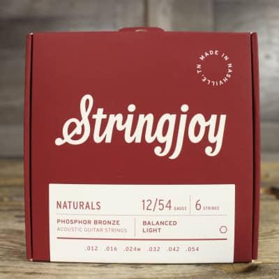 Stringjoy Naturals - Light Gauge (12-54) Phosphor Bronze Acoustic Guitar Strings