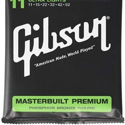 Gibson Masterbuilt Premium Phosphor Bronze Ultra Lights, 11-52