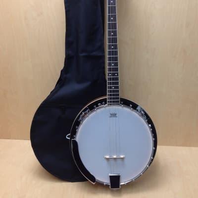 Caraya BJ-004 4-String Mahogany Resonator Banjo w/Free Gig Bag for sale