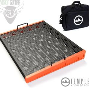 """Temple Audio Design Trio 21 (21"""" x 16.5"""") Pedalboard w/Soft Case - Temple Red"""
