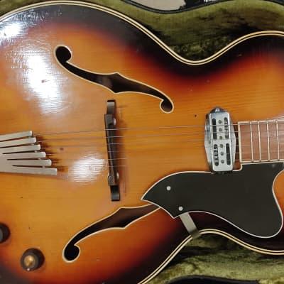 Otwin Jazzguitar solid top Sonor 1950 Sunburst for sale