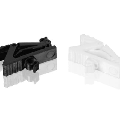 Countryman E6CLIP-B Mic Cable Clip for E6 / E6i, Set of 1 Black and 1 White