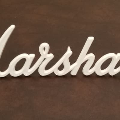 "Marshall 9"" Factory Replacement Original Logo Plate White"