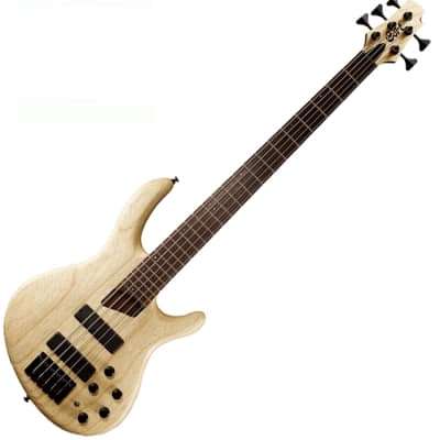 Cort B5 Plus 5 String Bass Active Passive Markbass Bartolini MK-1 Natural for sale