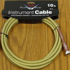NEW Fender Custom Shop 10' Tweed ANGLE CORD Cable Guitar & Bass Strat Tele