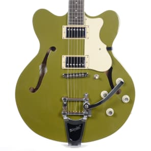 Hofner HCT-VTH-OGB-O Contemporary Verythin with Bigsby Olive Green