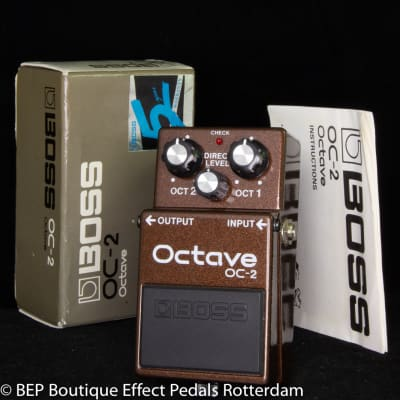 Boss OC-2 Octave Pedal 1990 s/n AB41352 Black Label as used by the great Matt Bellamy ( MUSE )