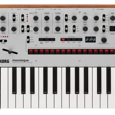 Korg monologue Monophonic Analogue Synthesizer - Silver 2019
