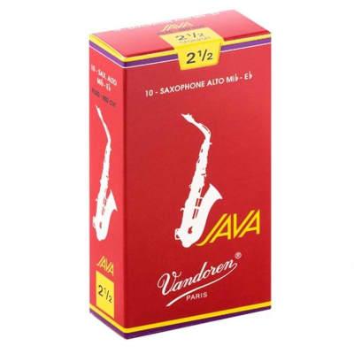 Vandoren SR2625R Alto Sax JAVA Red Reeds Strength 2 1/2; Box of 10 Grade 2.5