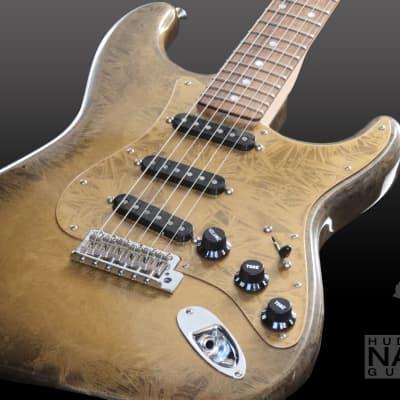 2017 Fender NAMM Prestige Masterbuilt  Frosted Gold Duco NOS  Stratocaster  - Scott Buehl