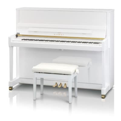 Kawai K300 Upright Piano 122CM White Polish